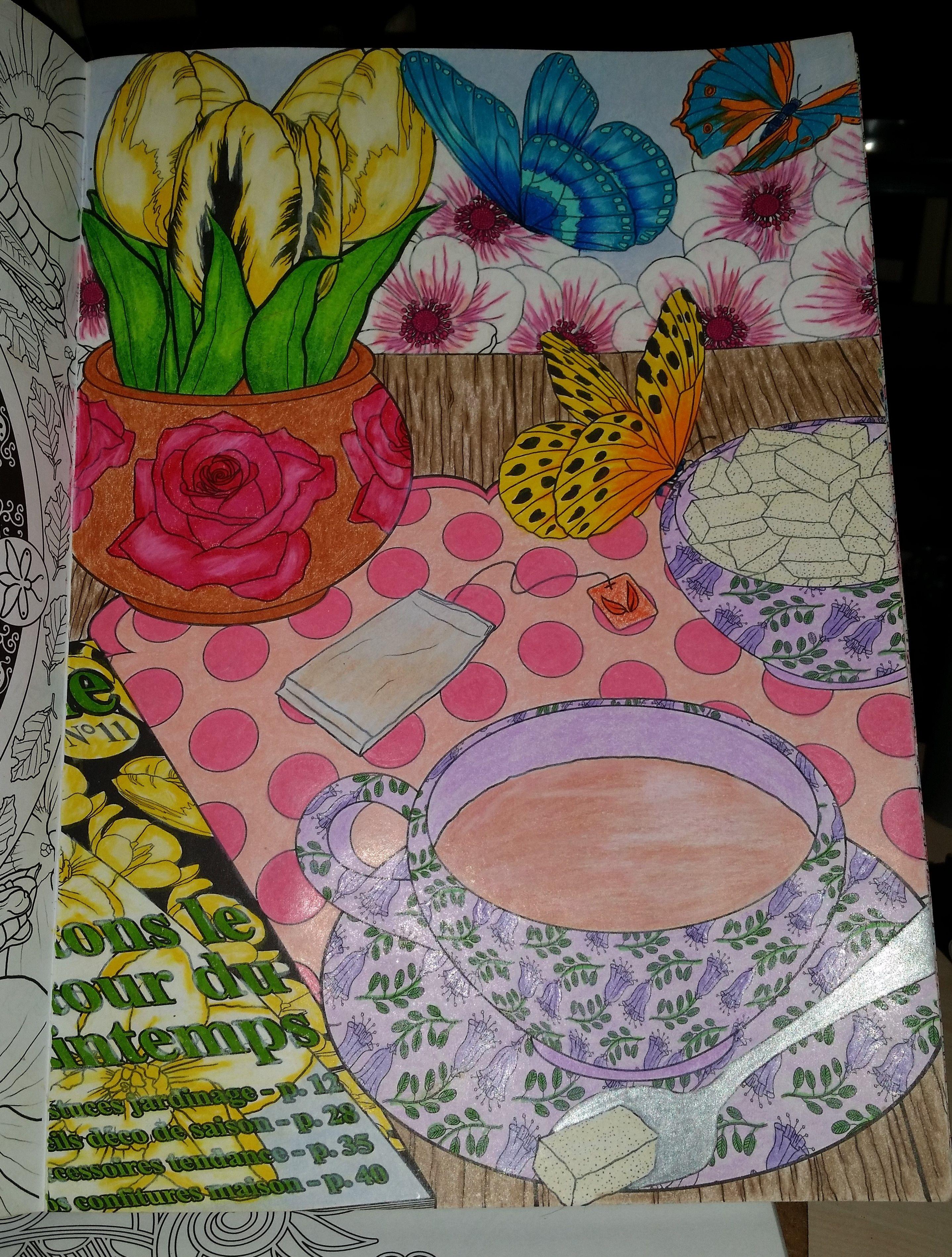 du livre printemps 100 coloriages anti stress de hachette art thrapie - Coloriage Anti Stress Hachette