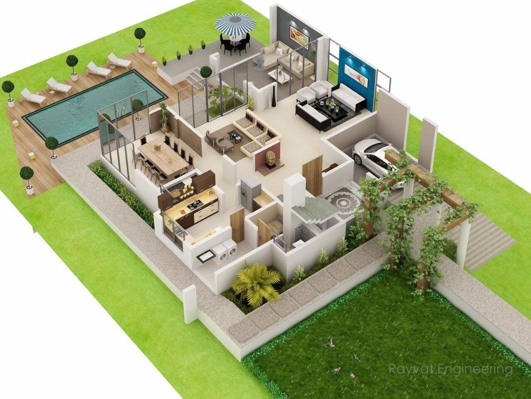 Departamento de dos pisos con cochera proyectos que for Planos de casas de dos pisos pequenas gratis