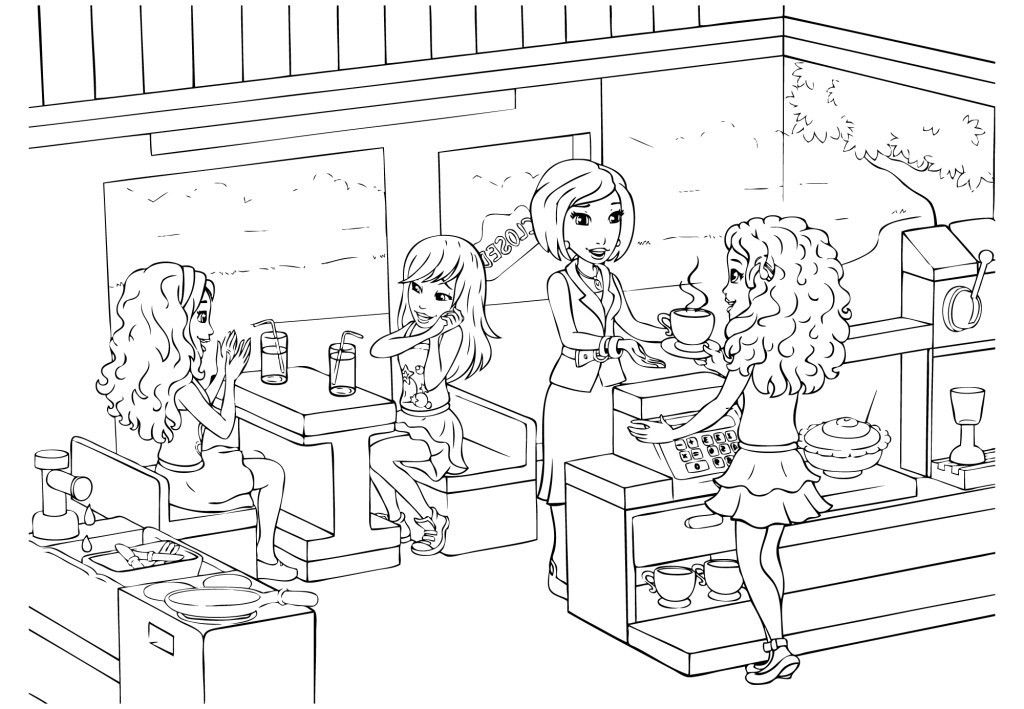 Friends Coloring Page Lego Coloring Pages Lego Friends Birthday Lego Coloring