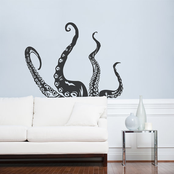 octopus tentacles wall art decal octopus decal on wall stickers painting id=54291
