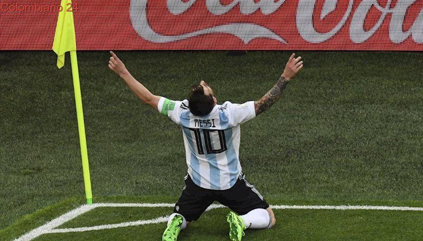 Gol Del 10 Gol De Messi Argentina Le Gana 1 0 A Nigeria Lionel Messi Gol De Fotos De Messi