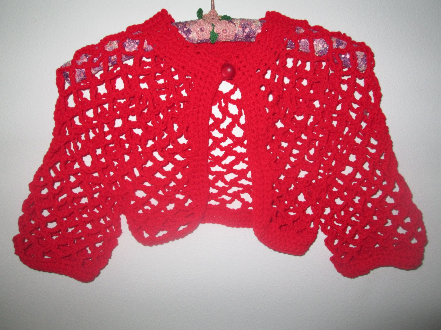 6db52f4a77d8 Girl s Size 12 Red Bolero by SuzannesStitches