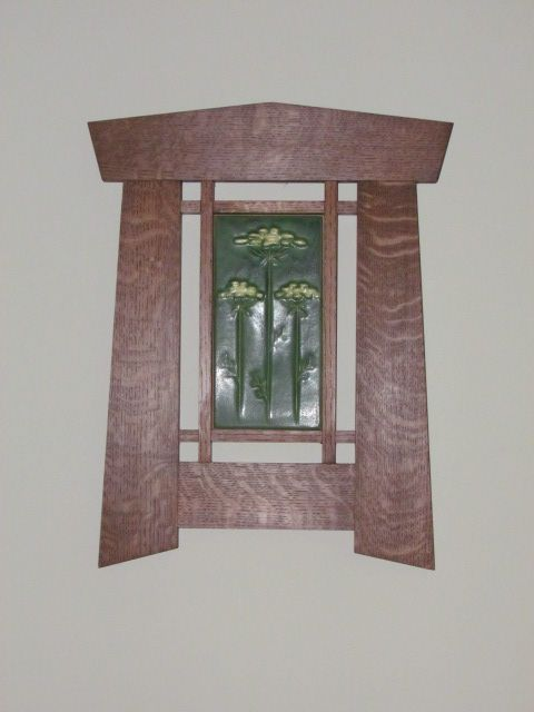 Craftsman Mission Arts Crafts Style Frame Made Out Of Quarter Sawn White Oak With A Cr Mission Style Furniture Arts And Crafts Furniture Arts Crafts Style