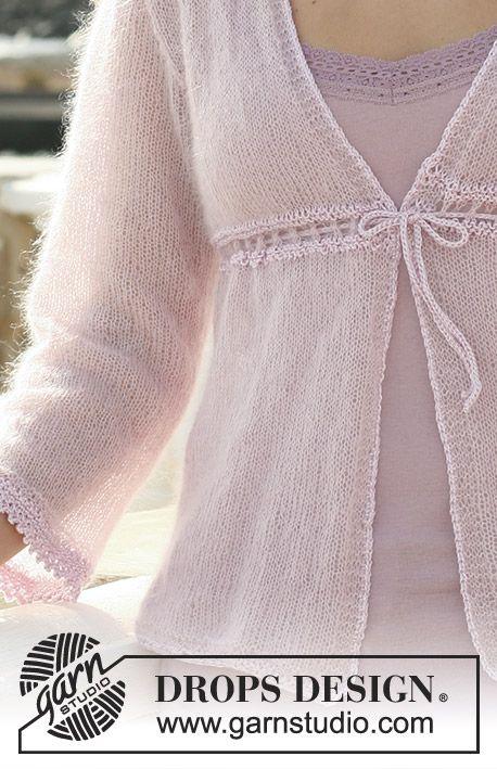 Giacchino Drops A Maglia Rasata In Kid Silk Con Cordino E Bordi