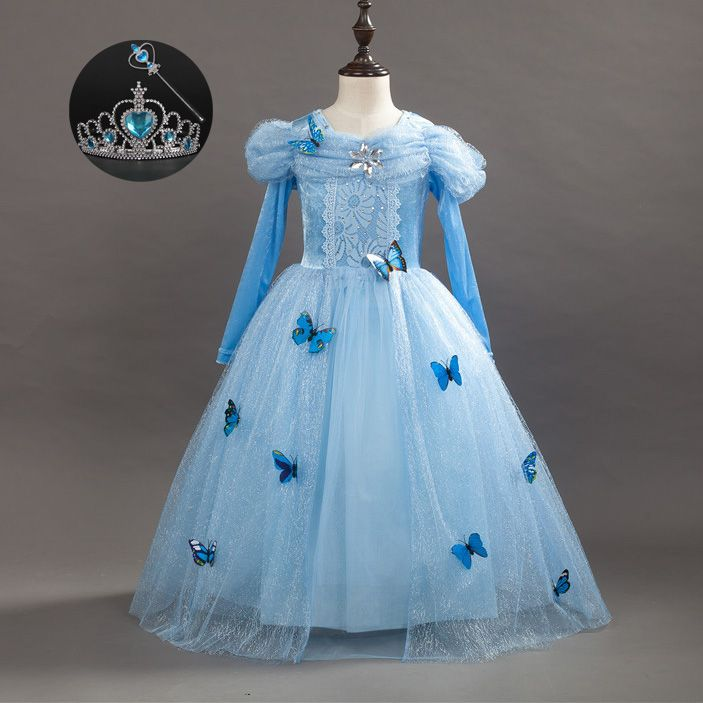 Children Girl Fall Fashion 2017 Gowns for Little Girls Size 3 4 5 6 ...