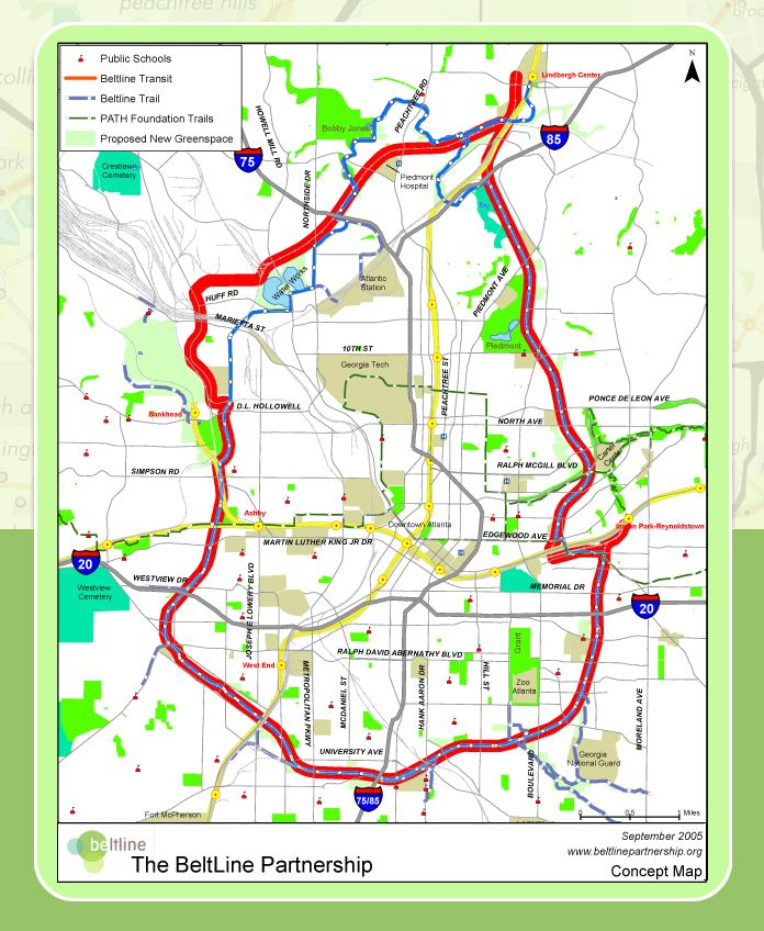 The Atlanta Beltline: A 22-mile loop of transit, trails, and green ...