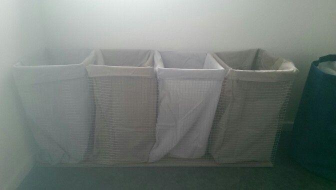 Gaas Het Interieur : Diy wasmand hardbord en vierkant gaas met nietjes bevestigd