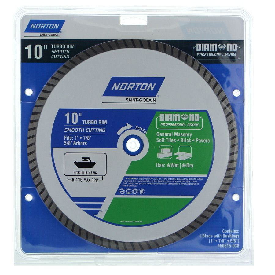 Norton 10 In Wet Dry Turbo Diamond Saw Blade 50515 038 In 2020 Circular Saw Blades Soft Tiles Concrete Roof Tiles