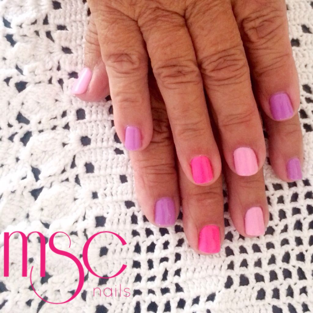 #mscnails #uñas #nails #semilac #gelpolish #esmaltesemi #demipermanente #pinknails #pink