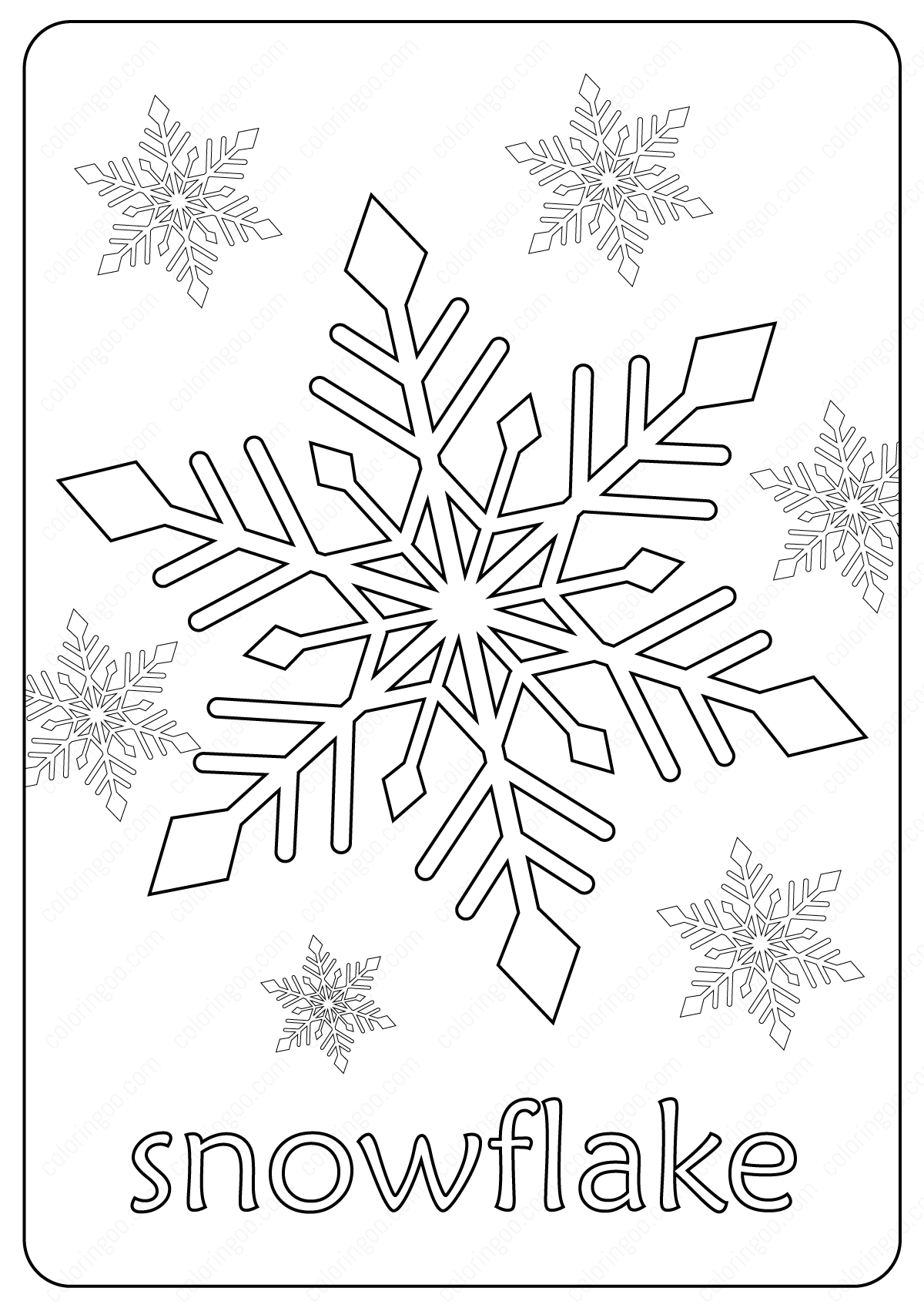 Free Printable Snowflake Coloring Pages (With images
