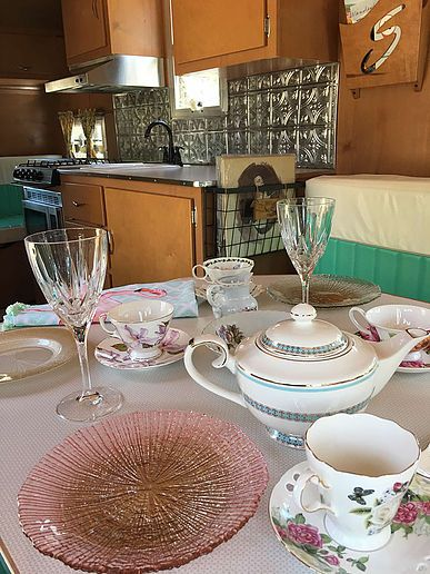 Rent A Vintage Camper From The Flying Ham In Nashville And Have Your Own Tea Party