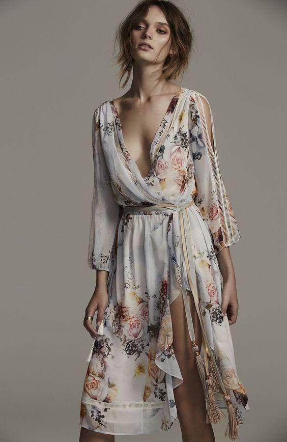 Floral Midi Boho Dress 17