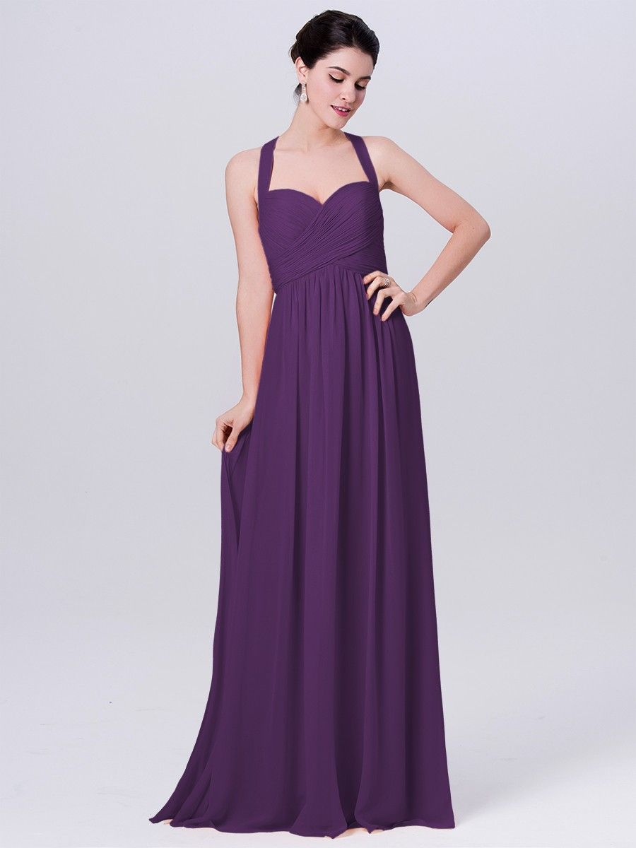 Halter Chiffon Dress Plus and Petite sizes available