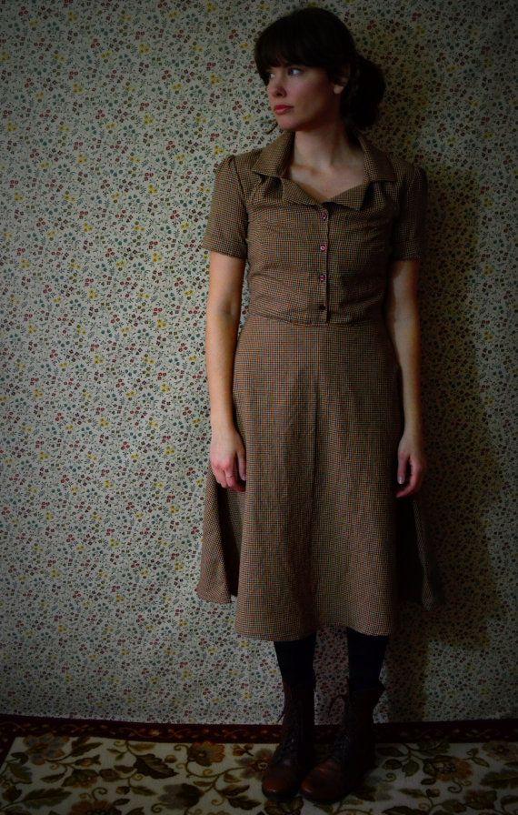 Retro Dress in Gingham por LetsBacktrack en Etsy, $68.00