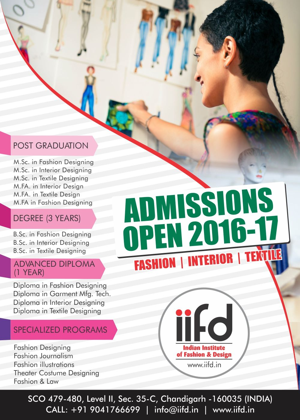 Admission Open In Fashion Designing Institute Indian Of Design Fill Online