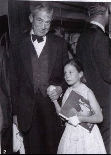 Anjelica Huston and father John
