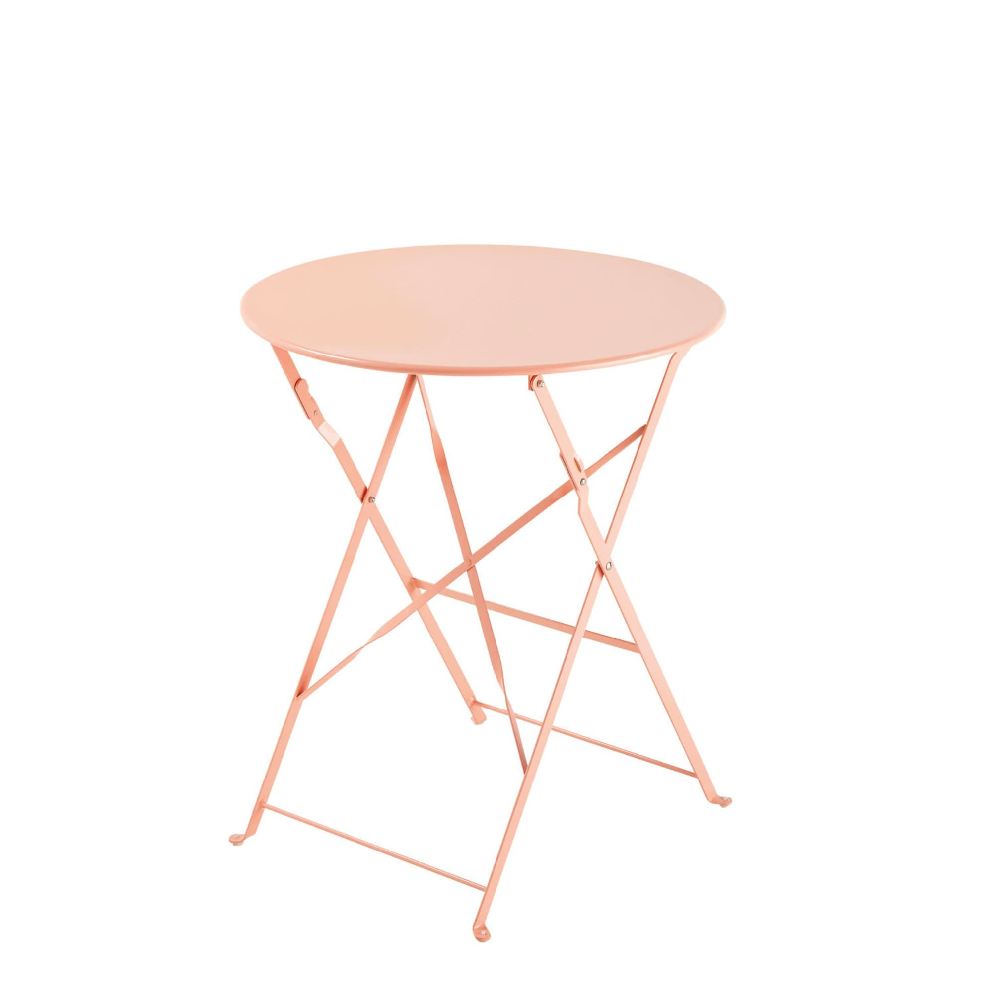 Table de jardin pliante en métal rose D58 in 2019 | Folding bistro ...