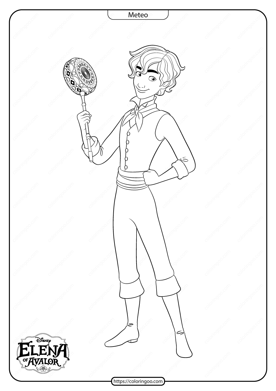 Printable Elena Of Avalor Meteo Coloring Pages Coloring Pages Disney Coloring Pages Disney Character Drawings [ png ]
