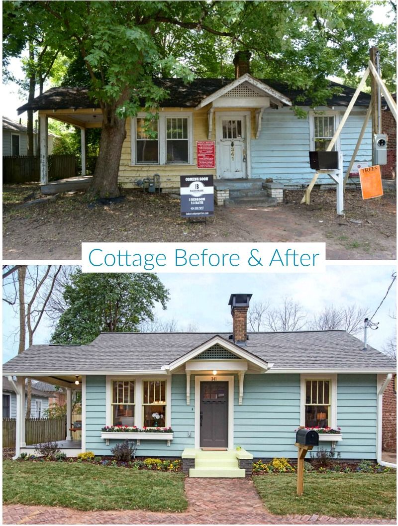 Atlanta Renovations Before After Photos With Images: Eyesore No More: An Old Cottage In Atlanta Gets A New Look