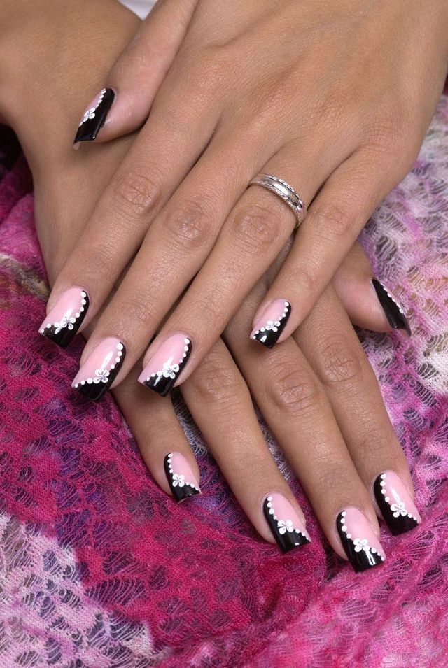 Pin by C.b. on unghii | Pinterest | Breast cancer nails, Cancer ...