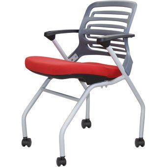Silla de Oficina Apilable Ika - Ruedas Rojo | Furniture and Interior ...
