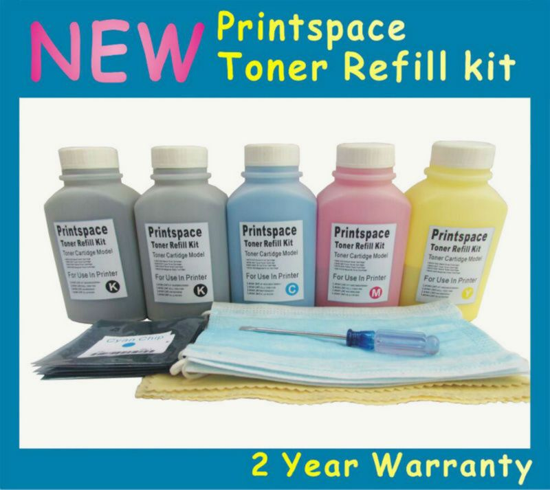 5x Non Oem Toner Refill Kit Chips Compatible For Fuji Xerox