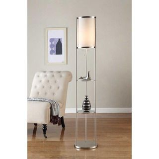 Artiva USA Exeter Modern 63-inch Brushed Steel Floor Lamp with ...