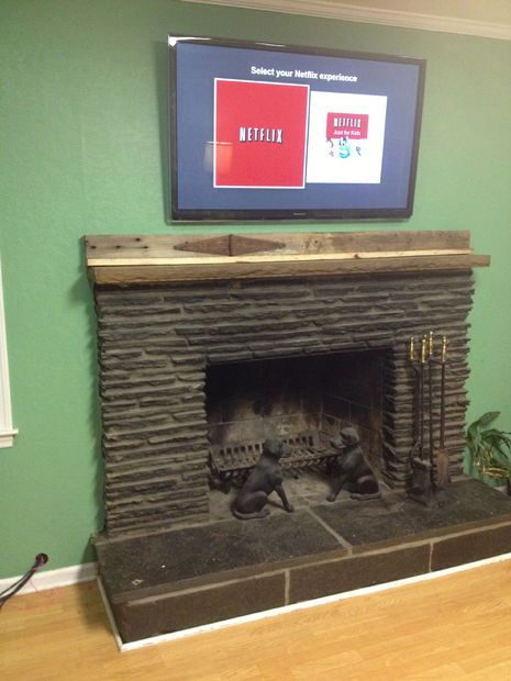 Run Tv Cables Above A Fireplace With