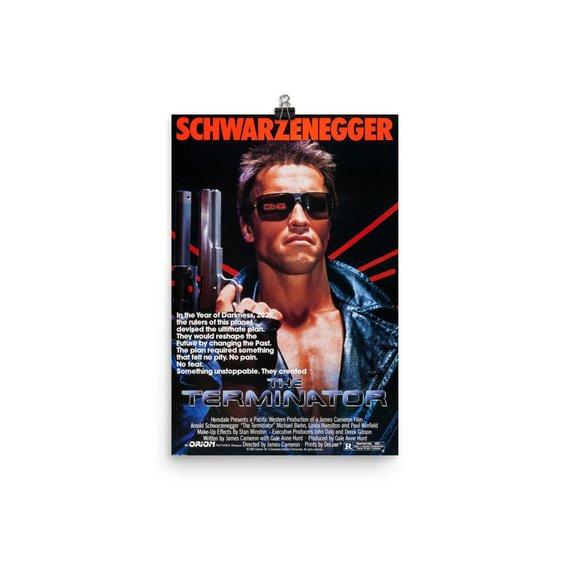 The Terminator Movie Arnold Schwarzenegger CANVAS Art Print A0 A1 A2 A3 A4