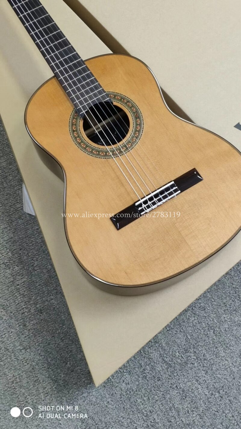 2018 New Model 36 Inch Handmade Acoustic Spanish Guitar Vendimia Solid Cedar Solid Rosewood Full Solid Classical G Guitar Classical Guitar Semi Acoustic Guitar