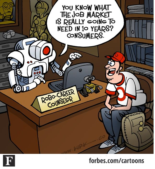Image result for robot efficiency cartoon