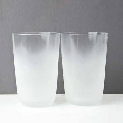 Inspired by the climate of Scandinavia, the Frost tumblers were created by the female design trio Front for Stelton. The partially frosted, hand blown form captures the beauty of ice crystals that form on windows on clear, frosty days. Subtly referencing mid-century glass traditions, the tumblers exude a cool Nordic note that makes any beverage more appealing.