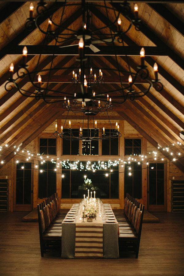 Brush Creek Ranch Elegant Rustic Chic Wedding Table Set In Our Historic Cowboy Dancehall