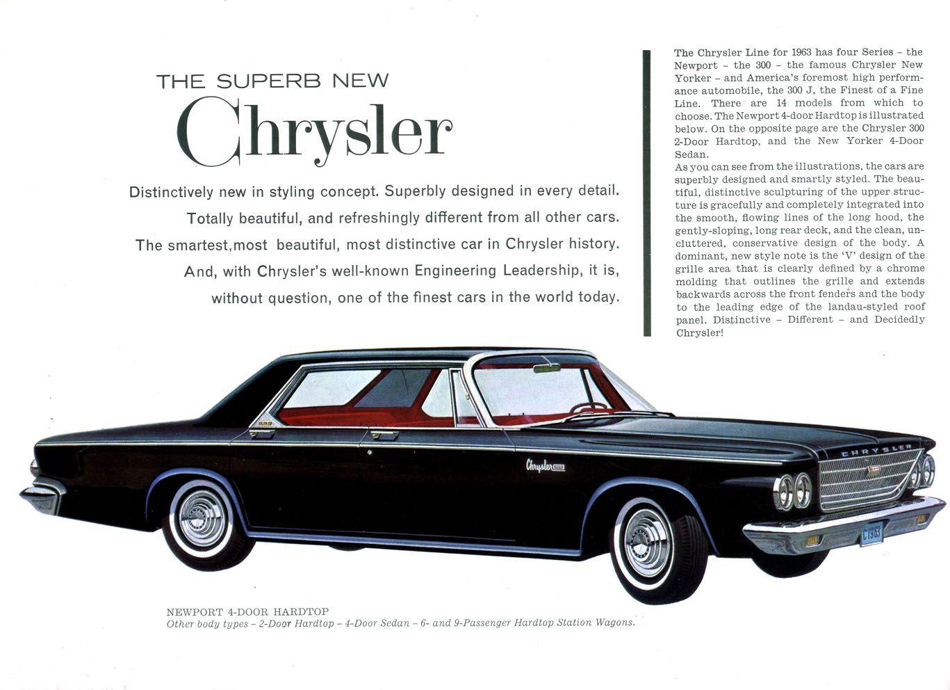 1963 Chrysler Plymouth Brochure   Vintage Car Ads   Pinterest ...