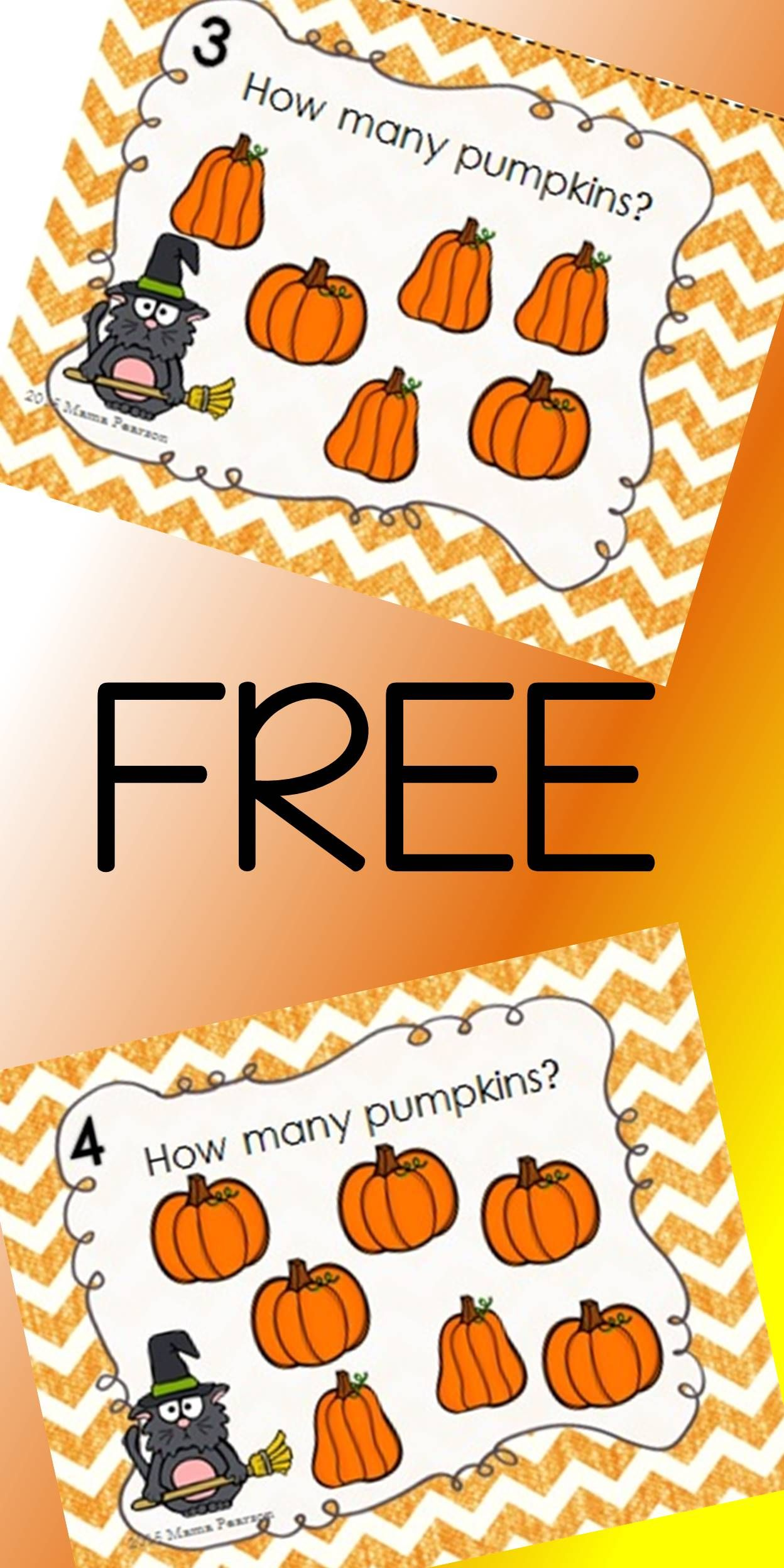 Free Halloween Count The Pumpkins Task Cards