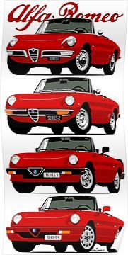 Alfa Romeo Spider Evolution Poster By Car2oonz In 2020 Alfa Romeo Spider Alfa Romeo Classic Cars