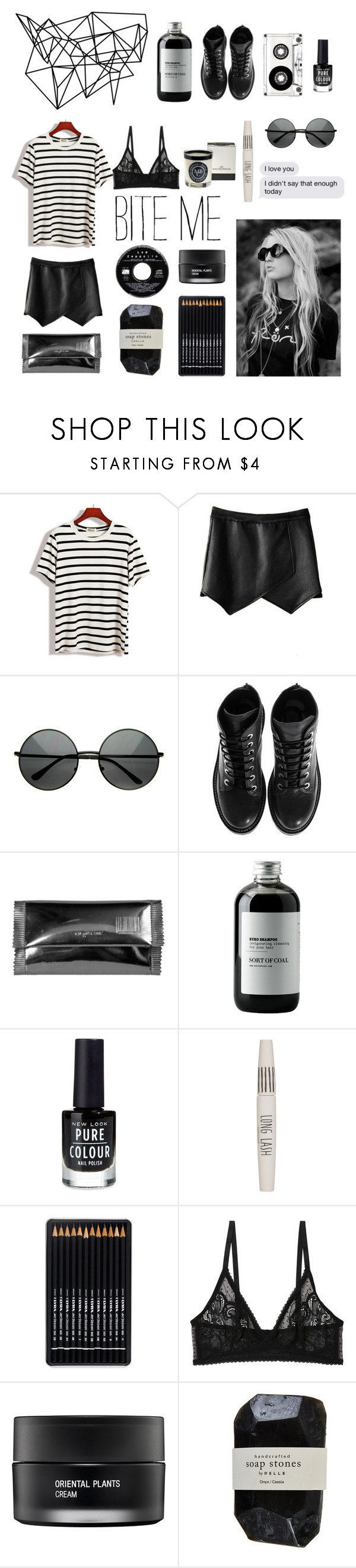 """Bite Me, I Dare You"" by smartiesandparties ❤ liked on Polyvore featuring beauty, Color Me, Kenzo, Maison Margiela, Sort of Coal, New Look, Topshop, Monki, Koh Gen Do and Cassia"
