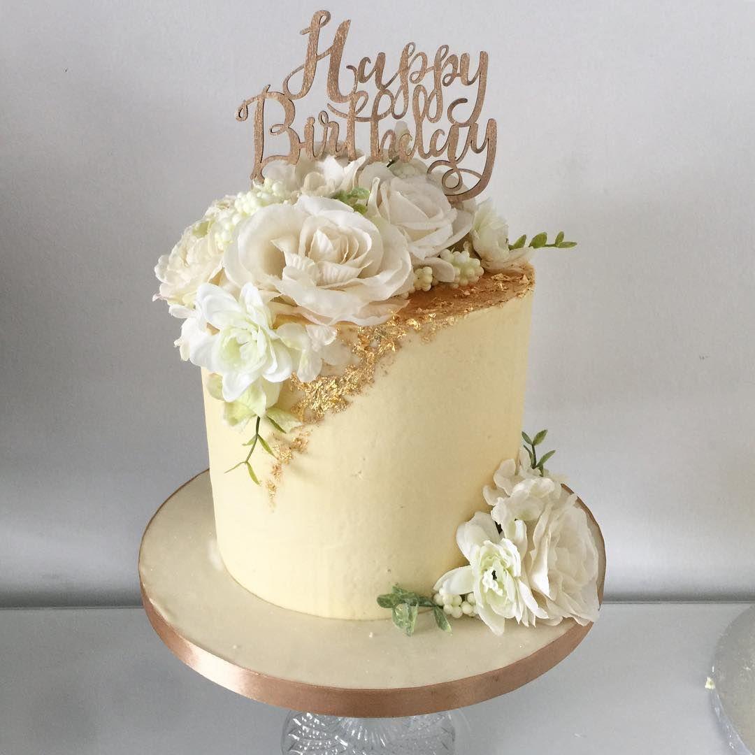 gold leaf cake designs