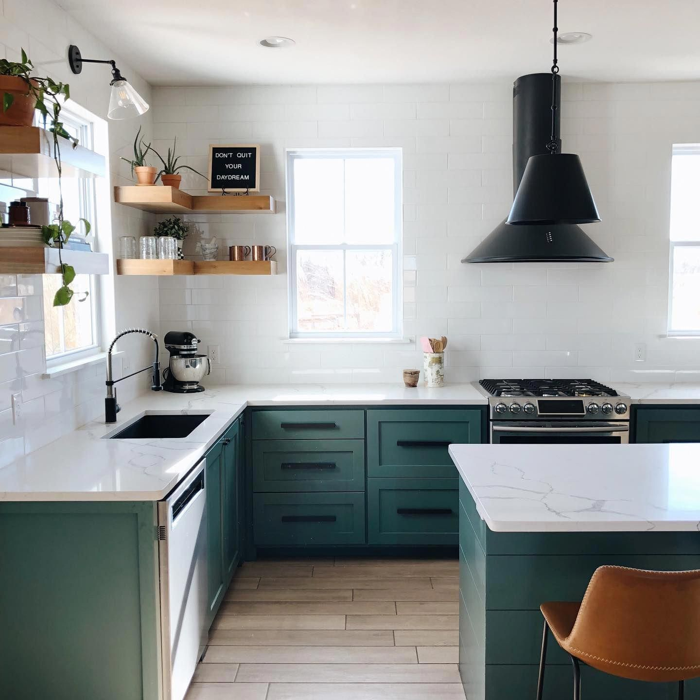 Kent Counter Stool In 2020 Green Kitchen Cabinets Kitchen Interior Kitchen Cabinet Design