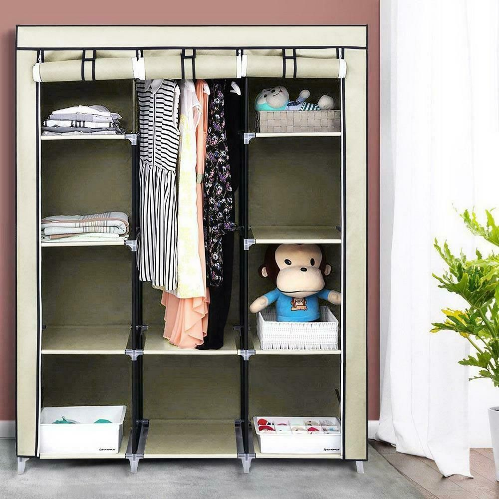 Details About Hot 4 Tier 10 Cube Closet Organizer Clothes Wardrobe