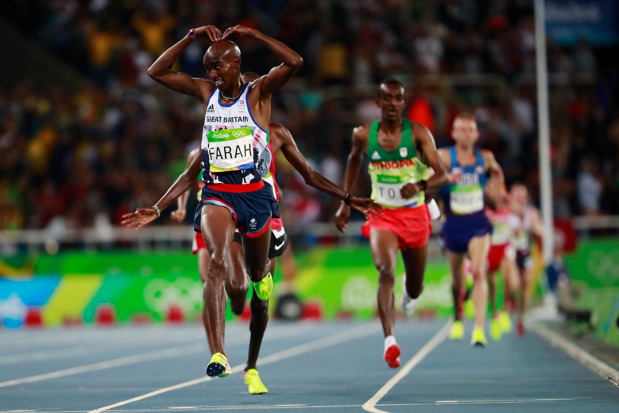 Mo Farah is among track legends like Emil Zatopek of Czechoslovakia and Kenenisa Bekele of Ethiopia as men who have won the 5,000 and 10,000 meters at the same Olympics.