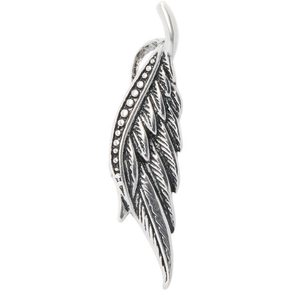 5a592d4b882 Ed Jacobs by Degs & Sal Men's Feather Necklace Pendant - Silver ($35)