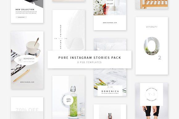 Pure Instagram Stories Pack by Swiss_cube on @creativemarket