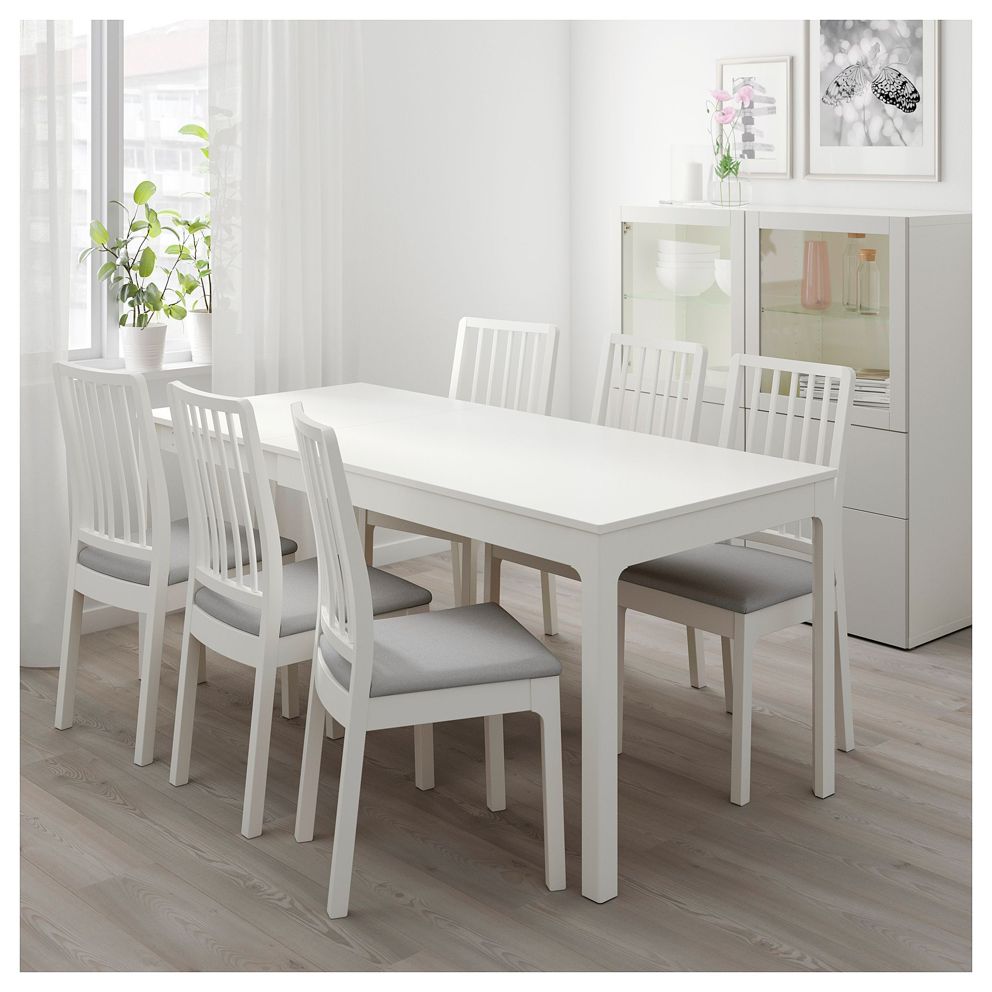 Table De Sejour Ikea Ikea Ekedalen Table And 4 Chairs White Orrsta Light Gray In