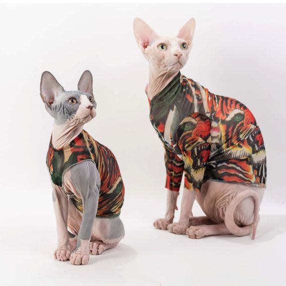 Tank Top Pet Clothes In Oh Tiger Tattcat Tattoo Inspired Pet Clothes Chinese Crested Dog Sphynx Cat