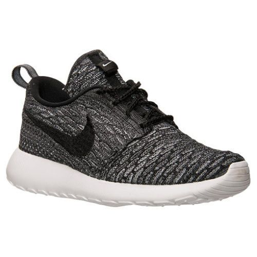 new product 5d0ef 7434e AUTHENTIC-Nike-Roshe-Run-One-Flyknit-Wolf-Grey-Black-White-704927-006-Women -sz