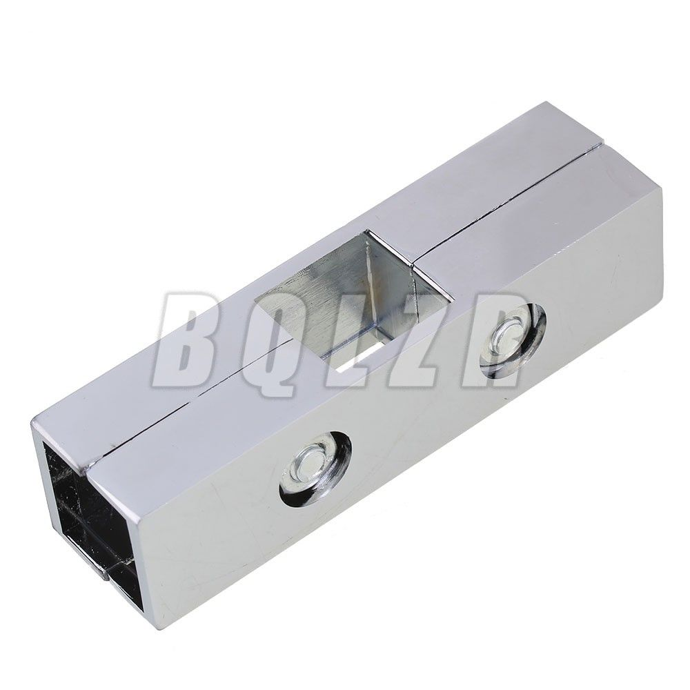 Silver Square Tube Connector 3 Way Pipe Clamp Fitting for 25mm Pipe