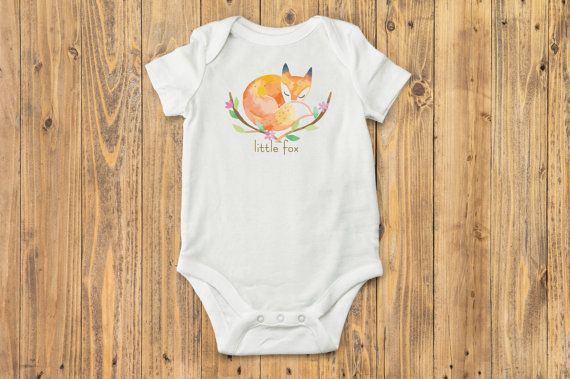 Little Fox Baby Onesie® Boho Baby Clothes Fox Baby by BittyandBoho
