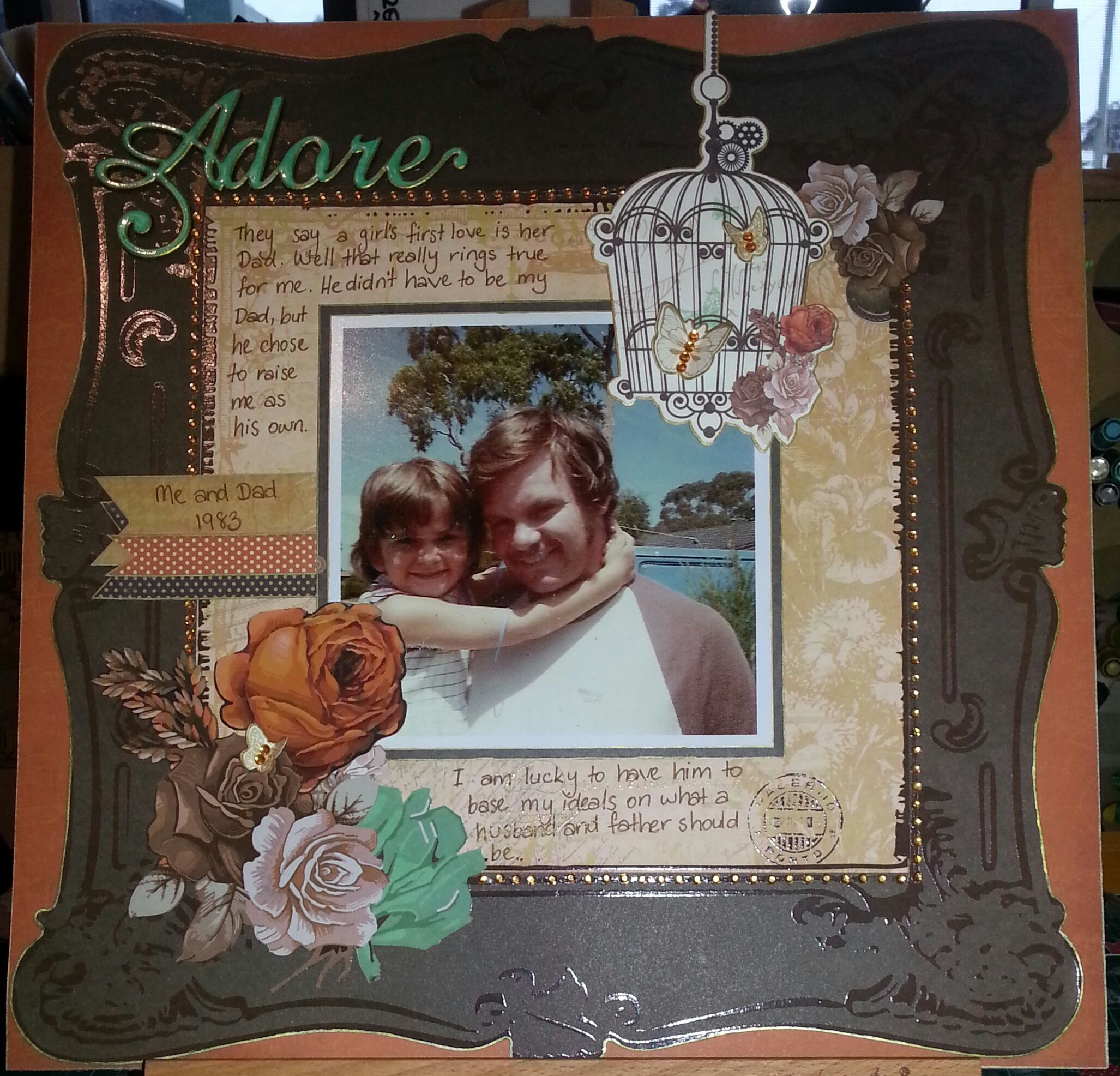 Kaisercraft Miss Empire layout ~Karyn Watton