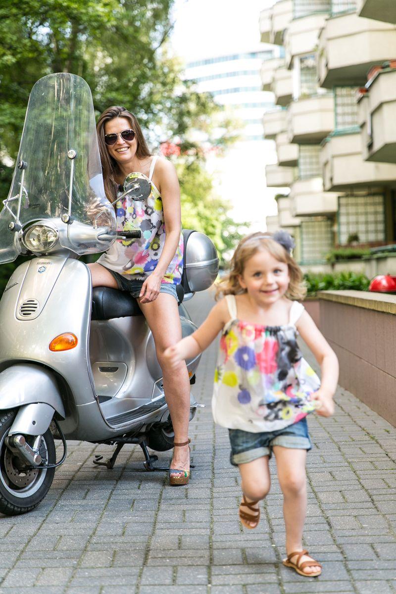Silk Touch Blouse Set For Mom And Doughter Taka Sama Bluzka Dla